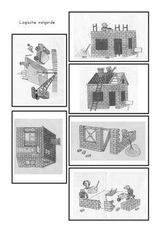 Logische volgorde: bouwen Home Themes, Art Worksheets, School Items, Projects For Kids, Activities For Kids, Kindergarten, Monet, Techno, Building