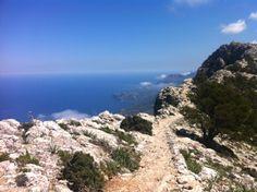 Vandring på Mallorca 2013. Ärkehertigens panoramaväg mellan Valldemossa och Deia.