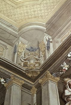 Difficult to determine real architecture and where details end and the faux begins. Art And Architecture, Architecture Details, Decoration, Art Decor, Grisaille, Monochromatic Art, Art Nouveau, Plaster Art, Beautiful Buildings