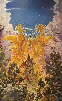 The Tower of Screaming Death was commissioned for a board game (Warhammer). Image © Josh Kirby Estate. #horror #art #joshkirby