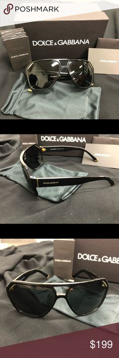Dolce & Gabbana sunglasses Authentic D&G 4138 Iconic Evolution  These unique geometric shaped sunglasses make a statement!! Super luxe look!!  Gold logo,accents and tips.   Minimal wear - excellent condition.  Comes with pouch, box and certificate of authenticity.  Unisex Eye size: 62 Bridge/Temple: 14/140  **MY PRICES ARE ALWAYS NEGOTIABLE** Please check out my other listing!!! Dolce & Gabbana Accessories Sunglasses