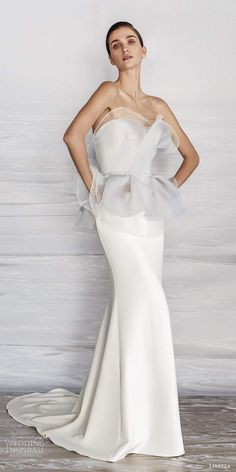 Wedding Trends, Wedding Designs, Wedding Ideas, Black White Wedding Dress, Minimalist Wedding Dresses, Handfasting, Chapel Train, Bridal Collection, Wedding Gowns