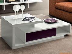 PA365 | Tavolino con cassetto in violetto lucido