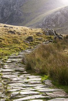 A path leading up Mount Snowdon.