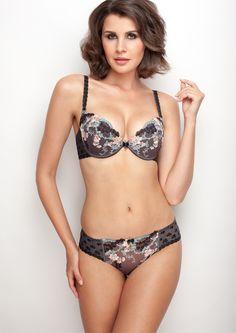 Samanta lingerie - New collection Amorgraphite bra: A330 pants: M300 www.samanta.eu