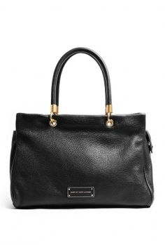 Black Too Hot To Handle Ultimate Leather Tote by Marc By Mar