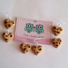 Earrings chocolate cookies ♡