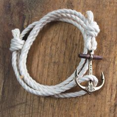The Classic Maritime Anchor Bracelet - Copper on Cotton Rope