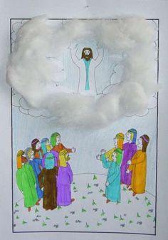 Jezus gaat naar Zijn Vader in de hemel. www.gelovenisleuk.nl