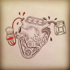Brought to you by Smart-e - Tattoo - Motorrad Car Tattoos, Biker Tattoos, Motorcycle Tattoos, Motocross Tattoo, Modern Tattoo Designs, Modern Tattoos, Motor Tattoo, Car Drawings, Tattoo Drawings