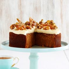 Collect this Butternut Pumpkin Spice Cake with Sunflower Almond Toffee recipe by The Dairy Kitchen. MYFOODBOOK.COM.AU | MAKE FREE COOKBOOKS
