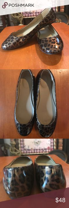 NWOT J. Crew Cheetah Flats Brand new!!! Adorable cheetah patent leather flats, a great accent for your shoe collection! These lacquered ballet flats are waiting for you!! J. Crew Shoes Flats & Loafers