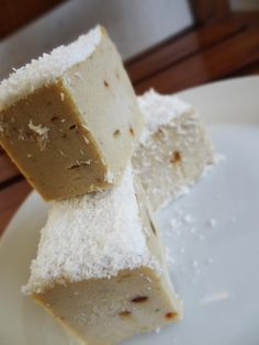 Raw Coconut Durian Fudge Recipe by JonnyFreesh - #durianmadness