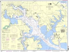 NOAA Nautical Chart 12281: Baltimore Harbor is a standard navigation chart used…