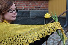 Ravelry: Liliopsida pattern by Heidi Alander  Top down, triangle, sock yarn