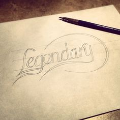 It's going to be LEGEN—wait for it... #lettering #sketch #typography - @seanwes | Webstagram
