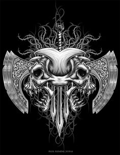 Tribal Demon Skull by Oblivion-design
