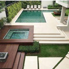 57 best ideas for exterior design backyard landscaping beautiful Small Backyard Pools, Backyard Pool Designs, Swimming Pools Backyard, Swimming Pool Designs, Outdoor Pool, Swiming Pool, Pool Decks, Backyard Ideas, Cheap Landscaping Ideas