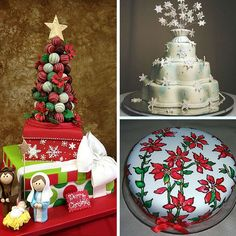Today we will feature creations from Edda's Cake Designs in Florida. Christmas Themed Cake, Christmas Wedding Cakes, Christmas Cake Decorations, Christmas Events, Christmas Themes, Create A Cake, Sweet Cupcakes, Cake Pictures, Cake Creations
