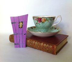 Lavender Pink Radiant Orchid Fairy Door Wonky by ParisCabinet, $15.00