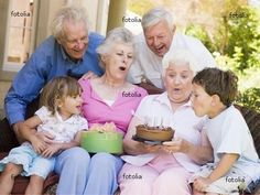 Picture of Grandparents and grandchildren on patio with cake and gift smiling stock photo, images and stock photography. Creative Visualization, Grandma And Grandpa, Young At Heart, Aging Gracefully, Grandparents, Grandchildren, Friends Family, Google Images, In This Moment