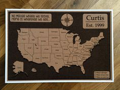 us map with pins mother s day gift united states push pin map