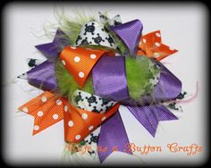 Funky and bright Halloween Boutique Hairbow