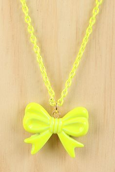 Girly Bow Necklace