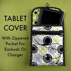 Sewing Projects for The Home -Sew a Quilted Tablet Cover With Zippered Pocket- F. Sewing Projects for The Home -Sew a Quilted Tablet Cover With Zippered Pocket- Free DIY Sewing Patt Small Sewing Projects, Sewing Projects For Beginners, Sewing Hacks, Sewing Tutorials, Sewing Crafts, Sewing Tips, Diy Couture, Tablet Cover, Kindle Cover
