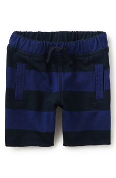 Tea Collection Stripe Knit Shorts (Baby Boys)