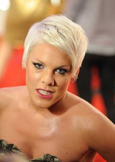 Pink Hairstyles Pink Extra Short Tapered Haircut  Beauty Hair Styles And Colors