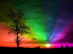 Rainbow Sunset - bright-colors photo
