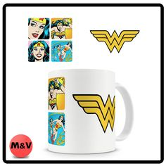 Wonder Woman mug, dc, comics, super, mum