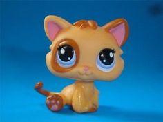Littlest Pet Shop Cutest Pet Orange Kitten Baby Cat 2414 w Purple Eyes LPS New | eBay