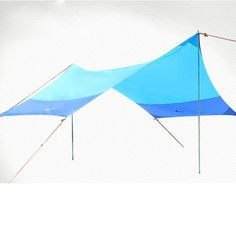 tenda della spiaggia baldacchino della tenda esterna pergolato tenda multiplayer luce grande sole EURO 117,29