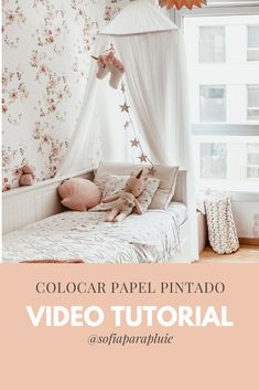 Video tutorial para colocar papel pintado y cambiar una estancia