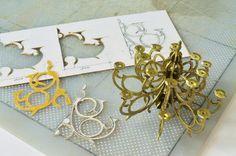 Stencil card chandelier