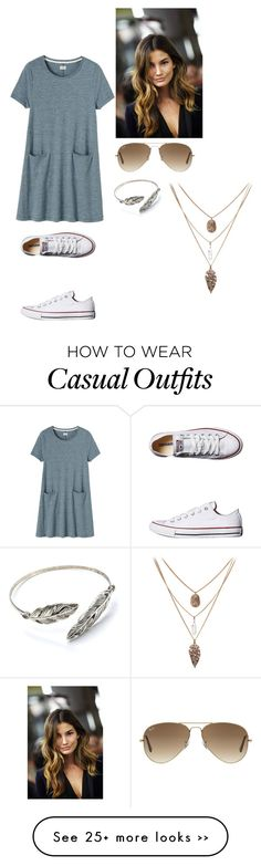 """Cute casual"" by peightonburns on Polyvore featuring Toast, Converse and Ray-Ban"