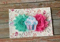 Birthday Baby Headband/Cupcake Baby Headband/Baby Headband/First Birthday/Cupcake Headband/Cupcake/Headband/Newborn Headband/Infant Headband by JuliaGraceDesigns1 on Etsy
