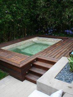 above ground swim spa - Google Search