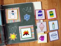 Love this idea for a magnetic quiet book.  Cardstock painted with magnetic paint!
