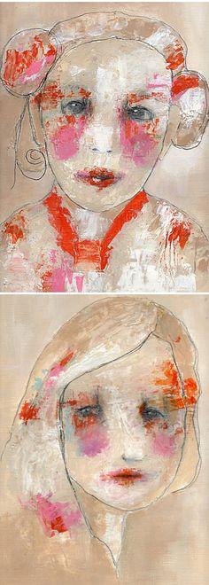 Art * These pretty, and slightly disturbing, girls are the work of Portland based artist Christina Romeo.