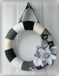 Elegant Yarn Wreath