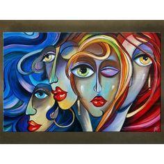 Handgeschilderd schilderij Abstract 1 delig 5603FA