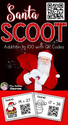 Bring some technology into your classroom with this Christmas SCOOT math game from Mrs. Beattie's Classroom! It includes addition problems to 100 with self-checking QR codes that your students will love!