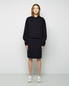 Shop Fashion on La Garconne, an online fashion retailer specializing in the elegantly understated. Street Outfit, Celebrity Outfits, Wearing Black, Fashion Pictures, Acne Studios, Pretty Outfits, Fashion Online, Normcore, High Neck Dress
