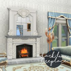 historicalsimslife TS4: DARK LUX FIREPLACE (sims 3 to sims 4 conversion)