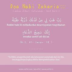 Doa Nabi Zakaria - Ketika Memohon Dikurniakan Zuriat
