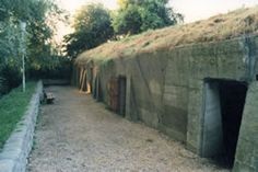 """Advanced Dressing Station (ADS) bunkers, Essex Farm, Ypres Salient, Belgium --  where John McCrae composed """"In Flanders Fields"""""""