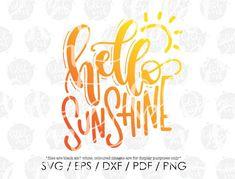 Lettering Design, Hand Lettering, Summer Calligraphy, Hello Sunshine, Summer Sun, Sun Designs, Cute Kids, Silhouette Cameo, Photoshop